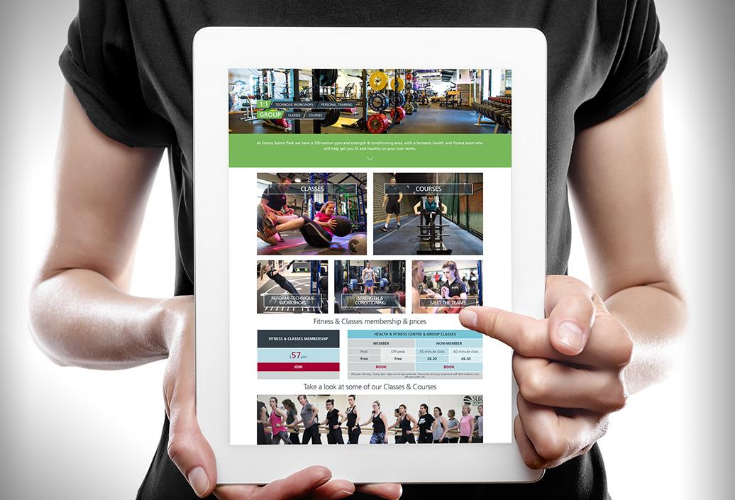 Surrey-Sports-Park-Fitness-iPad-view