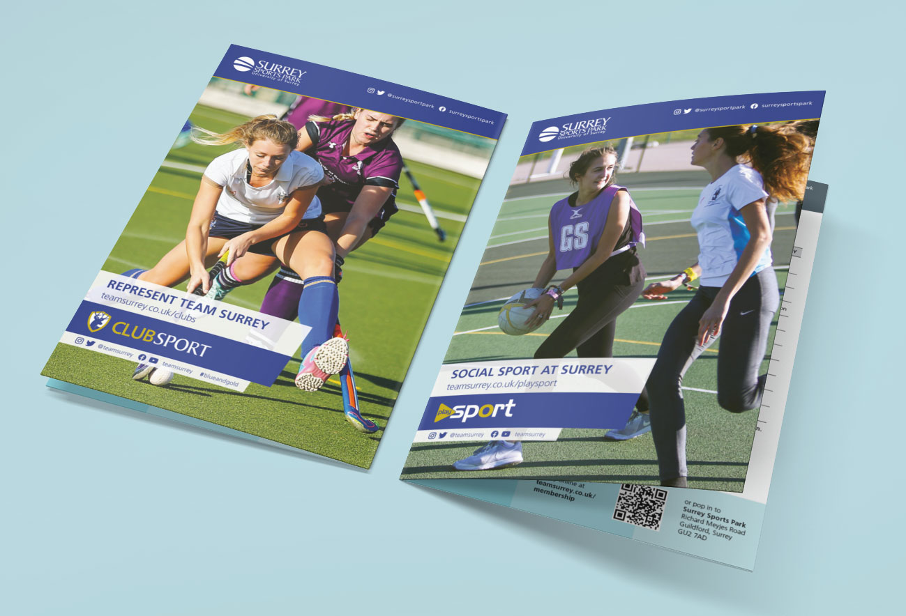 Club Sport and PlaySport leaflet fronts