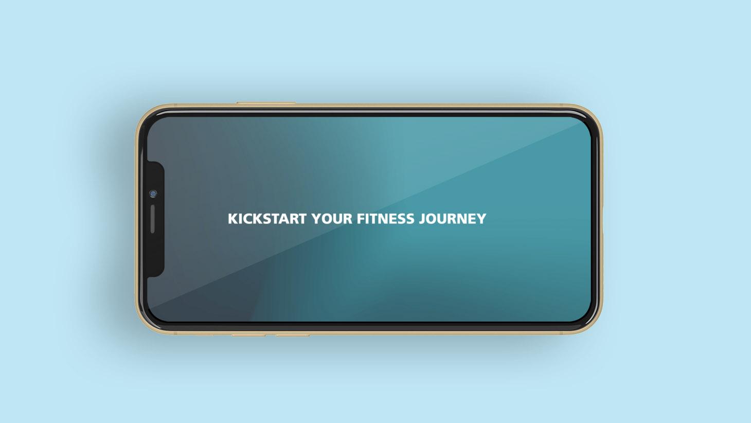 Kickstart your fitness journey message on iPhone screen