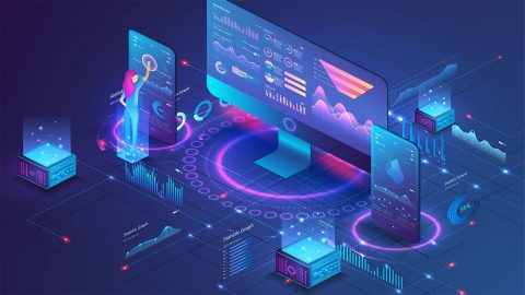 Marketing automation platform illustration