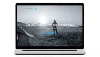 Insurance broker starter website home page mockup